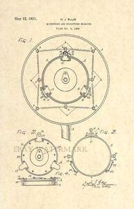 Official-Microphone-US-Patent-Art-Print-Vintage-1931-Antique-Art-Deco-125
