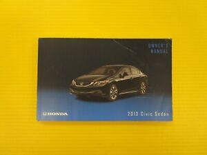 Honda Owners Manual >> Details About Civic Sedan 4 Door 13 2013 Honda Owner S Owners Manual Oem