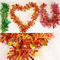 1.4m (5 Feet) Deluxe Chunky Tinsel w/Mini gold Hearts Christmas Home Party Decor
