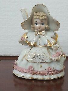 Vintage LEFTON CHINA Figurine Little Bo Peep Roses K 1052