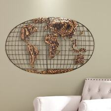Metal wall sculpture iron white antiqued finish large decor item 6 large 3 d world map wall art sculpture iron metal wbrushed gold rustic finish large 3 d world map wall art sculpture iron metal wbrushed gold gumiabroncs Gallery