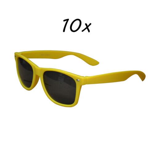 10 Stück Sonnenbrillen 80er Nerd Style Brille Retro Atzenbrille Brillen UV 400