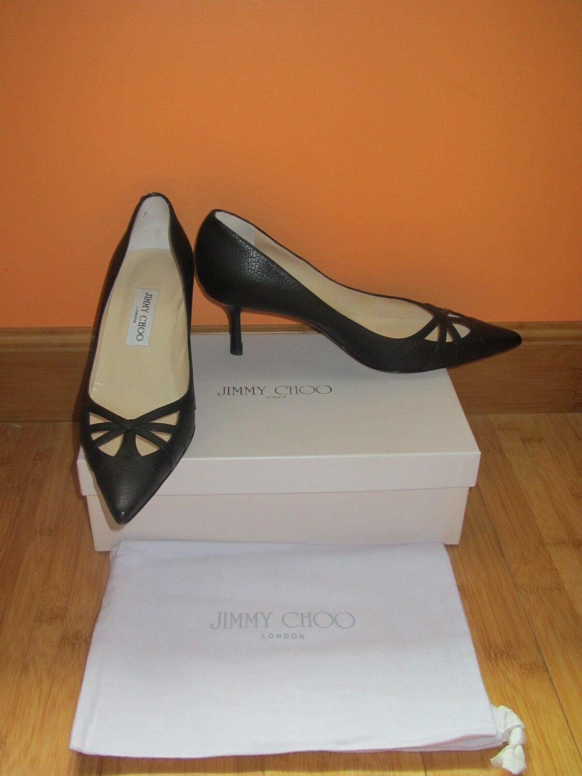 il più alla moda Brand new new new  Jimmy Choo London, pumps, nero w  cutout, sz.39, Made in   al prezzo più basso