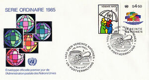 United Nations 1985 Definitives First Day Cover Vienne Shs-afficher Le Titre D'origine