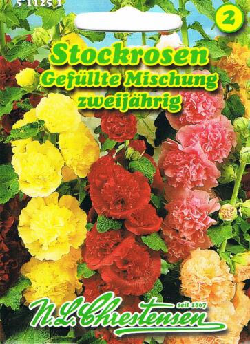 Stockrosen /'Gefüllte Mischung/' zweijährig /'Alcea rosea/'  511251 Saatgut Malve