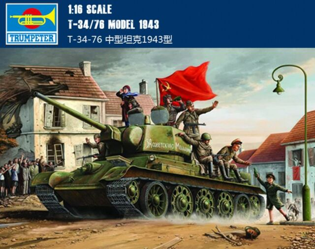 00903 Trumpeter Armored Car 1/16 T-34 / 76 Model 1943 Soviet Russian WWII Tank