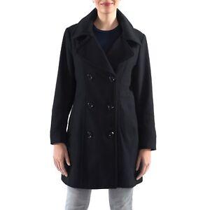 Alpine Swiss Norah Womens Wool Blend Double Breasted Peacoat Notch Lapel Jacket