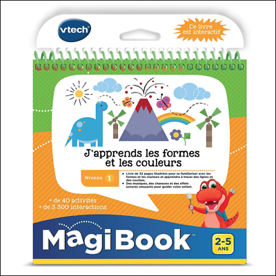 Vtech Interactive Book Magibook I Learn Shapes And Colors Ebay
