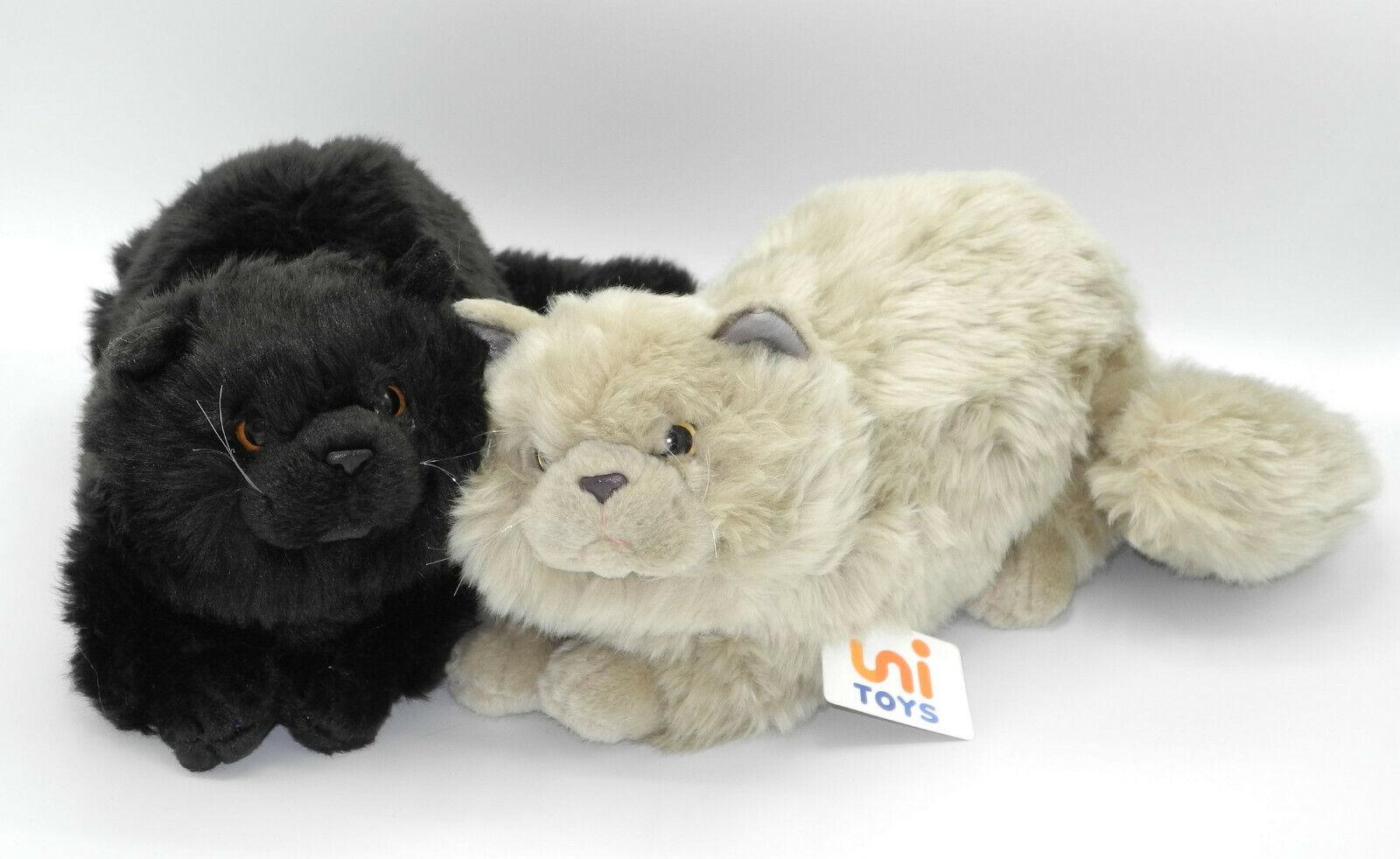 Uni-Toys Katze rot oder grau getigert Farbe wählbar ca 40cm lang