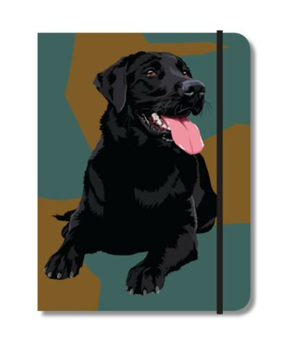 Black Labrador Gundog Design A6 Pocket Notepad notebook Shooting Gift