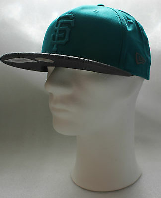 Türkis/grau Offensichtlicher Effekt Neu New Era San Francisco Giants Snapback Cap 9 Fifty Pop Tonal