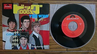 """THE WHO Dogs JAPAN 7"""" DP-1595"""