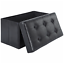 "15"" x 30"" storage ottoman bench, collapsible/folding bench chest with cover"