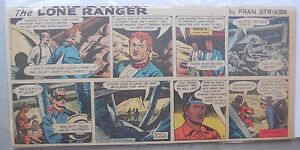 (12) Lone Ranger Sunday Pages by Fran Striker and Charles Flanders from 1958