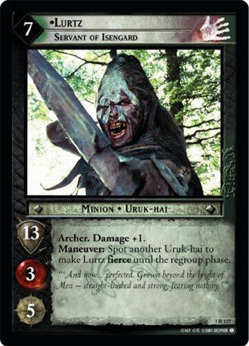 Servant of Isengard Moderately Played LOTR: Lurtz Foil Fellowship of the Ri