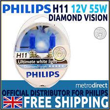 PHILIPS Diamond Vision H11 5000K upgrade dei fari lampadine (pacco doppio di lampadine)