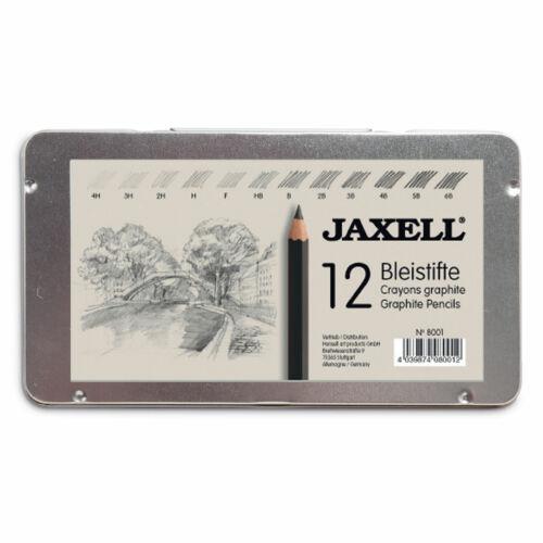 6B Metallkasten Honsell 8001 Graphitstifte 4H Jaxell 12 Bleistifte