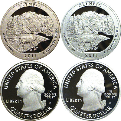 2011-S Proofs 25C Chickasaw Silver And Copper Nickel National Parks ATB Quarters