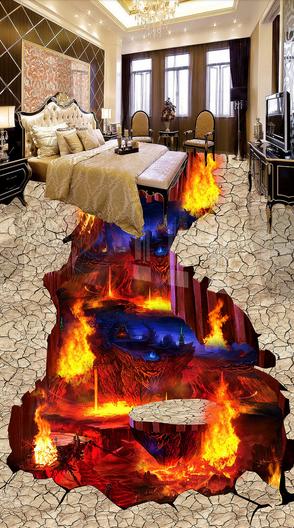 3D Flamme 50 Fototapeten Wandbild Fototapete Tapete Familie DE Lemon