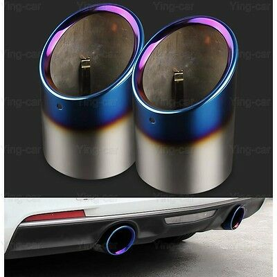 2 Chrome Stainless Steel Exhaust Muffler Tail Pipe Tip Tailpipe For Cadillac ATS