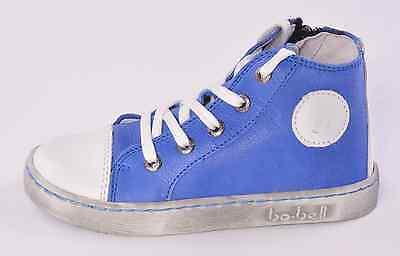 Bo-Campana bebés Fluffy Azul Cuero Converse Cremallera entrenadores UK 7 EU 24 RRP £ 53