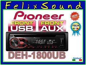 PIONEER-DEH-1800UB-SINTO-CD-MP3-USB-AUX-034-NUOVO-Modello-2016-034
