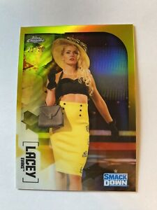 2020 Topps Chrome WWE Wrestling #40 Lacey Evans SmackDown Official World Wrestling Entertainment Trading Card From The Topps Company