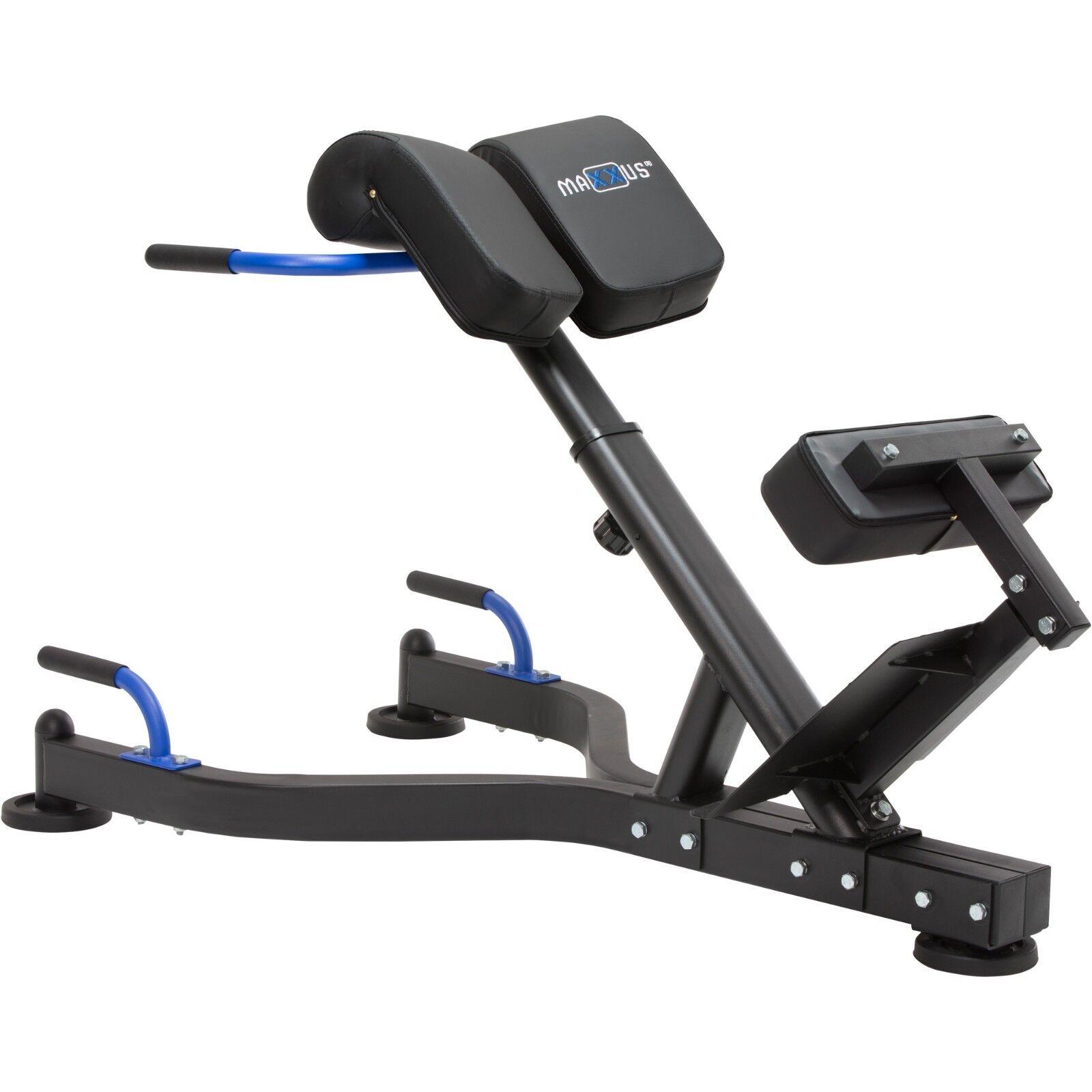 Maxxus hyperextension pro espalda entrenador entrenador de abdominales entrenamiento cintas ajustable