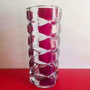 Vintage Large Size Luminarc Windsor Rubis Vase J G Durand France 22cm