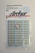 Archer Creature Eyeball Decals w/Round Pupils #2 (4 Large) (100 Figures) AR99007