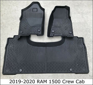 2019 Dodge Ram 1500 QUAD CAB All Weather Floor Mat Kit BROWN OEM Factory Mats