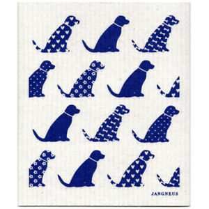 NEW-Dogs-Blue-Design-Eco-Friendly-Kitchen-Dishcloth