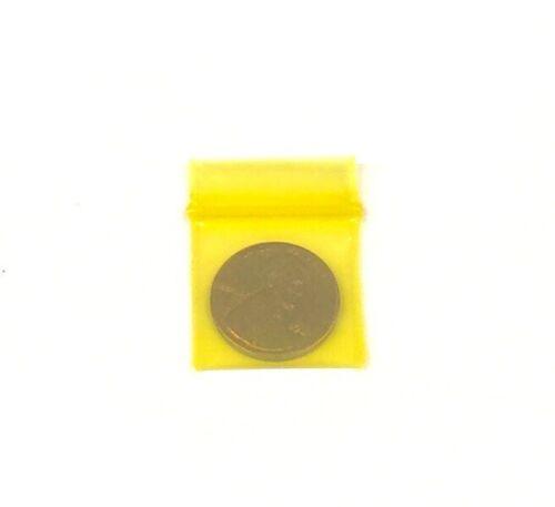 "Case of 1,000 1010 Yellow Tint Color Baggies Bags Bag 1/""x1/"""