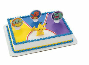 Image Is Loading Pokemon Pikachu Cake Decoration Decoset Topper Set
