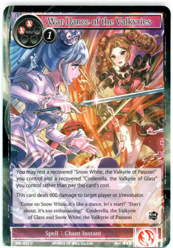 U SKL-032 1st Edition x1 Force of Will 4x 4 x War Dance of the Valkyries