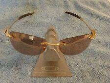 Oakley WHY 8 POLISHED GOLD Frame ☯☯☯ VR50 GOLD IRIDIUM Lens ☯☯☯ HARD TO FIND☯☯