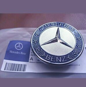 mercedes benz sport bonnet badge 57mm new c e s clk amg class emblem w204 ebay. Black Bedroom Furniture Sets. Home Design Ideas