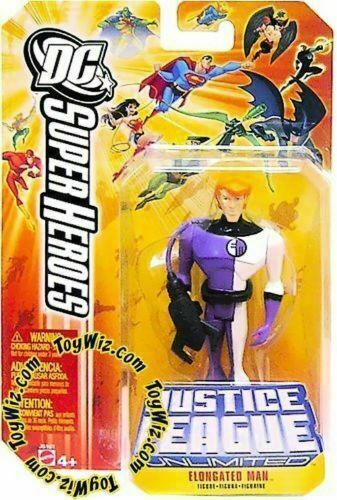 DC Super Heroes 4/'/' ELONGATED MAN JLU Mattel New Loose