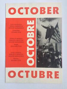 OCTOBER-Russian-MOVIE-PAMPHLET-Sergei-Eisenstein-Soviet-silent-cinema-art-design