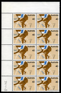 1976-Olympic-Games-BW745za-MUH-Sheet-Number-Block-10-SG626-Mint-Australia-Stamps