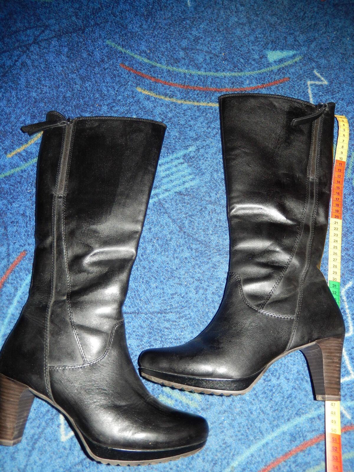 Leder-Party-Stiefel von Tamaris, schwarz, Leder, 1x getragen, getragen, getragen, neuwertig, NP: 27a4c0