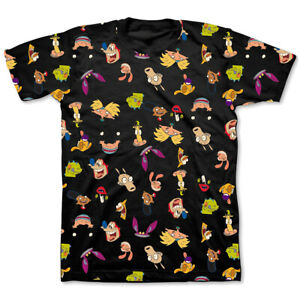 Nickelodeon-Classic-Characters-All-Over-Print-T-Shirt