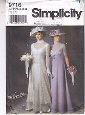 Victorian Wedding Costume Titanic Gown Simplicity Pattern 9716 Szs 6-12 Uncut