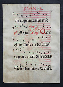 Rares Antiphonar,lithurgische Handschrift,pergament,initialien,1490 Incunabula Antiques