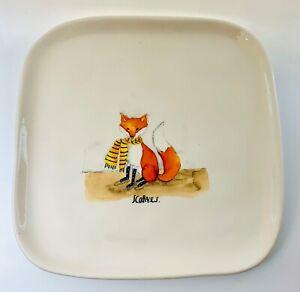 Rae-Dunn-Scarves-Fox-Plate-Fall-Thanksgiving-Magenta-Artisan-Collection-2017
