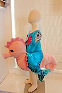 Boutique-3-D-Mermaid-Seahorse-Ride-In-Ariel-Princess-Tail-Costume-Kids-Girls-NEW