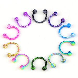 10PCS-Stainless-Steel-Horseshoe-Bar-Lip-Nose-Septum-Ear-Ring-Stud-Piercing-B-Hy