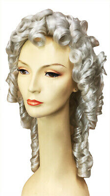 ADULT WHITE 1700/'S KING PIRATE CAPTAIN COLONIAL LACEY WIG COSTUME LW142WT