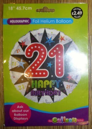 "6 21 18 Anniversaire 18/"" ans Foil Balloon 3 50-NEUF dans emballage"