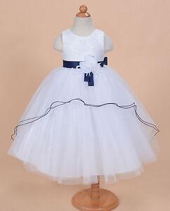 828c7f4ac Detalles de Nuevo Vestido Niña Dama de Honor Flores Fiesta Rosa Azul Lila 2  3 4 5 6 7 8